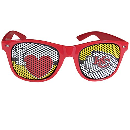 (NFL Kansas City Chiefs I Heart Game Day Shades, Red, Adult)