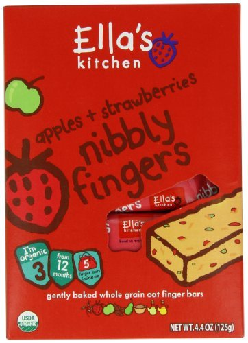 Ella's Kitchen Nibbly Fingers Apples + Strawberries 4.4oz