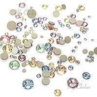 BABY Colors mixed with Swarovski 2058 Xilion / 2088 Xirius Rose flatbacks sizes ss5, ss7, ss9, ss12, ss16, ss20, ss30 No-Hotfix rhinestones nail art 144 pcs (1 gross) *FREE Shipping from Mychobos (Crystal-Wholesale)*