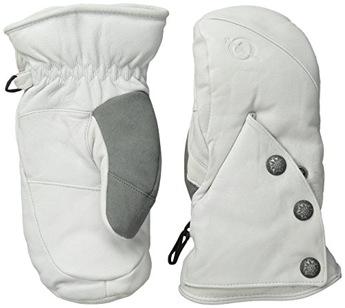 Obermeyer Women's Snowmass Down Mitten, White, Large