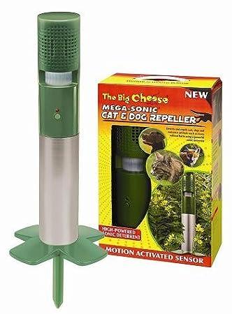 Mega-Sonic - Ahuyentador de gatos, perros y zorros (sensor de movimiento): Amazon.es: Jardín