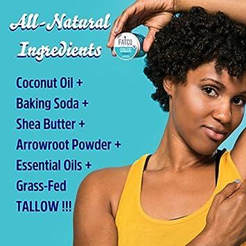 FATCO Stank Stop Natural Deodorant, Cream, 1 oz, Jar 2 PACK Lavender Sage