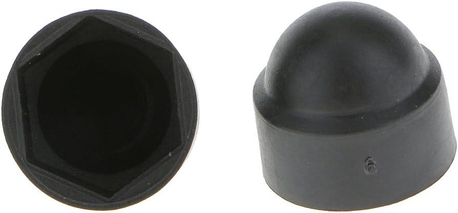 Nylon Noir M8 14x15 Mm Almencla Cache-/écrou 20 Pi/èces