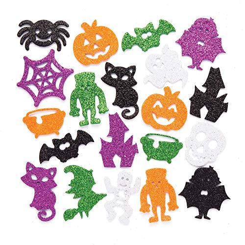 Baker Ross Halloween Foam Glitter Stickers (Pack of