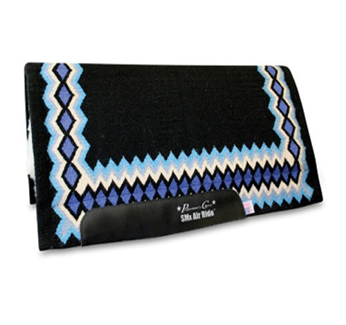 Professionals Choice 34X36 Equine Smx Air-Ride Shilloh Saddle Pad (Black/Turquoise)