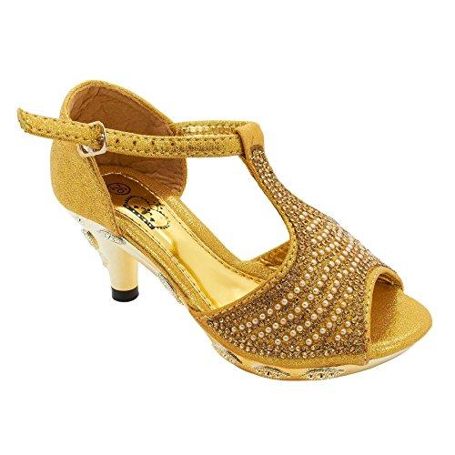 London Footwear Londres calzado Trix–, las niñas bajo tacón sandalias zapatos plata
