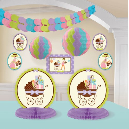 Modern Mommy Baby Shower Room Decorating Kit, Health Care Stuffs