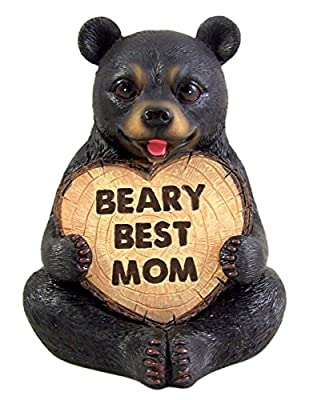 Mothers Day Figurine Beary Best Mom Black Bear Statue 6 Inch