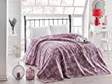 LaModaHome Luxury Soft Colored Bedroom Bedding 100% Cotton Double Coverlet (Pique) Thin Coverlet Summer/Bird Cage Animal Tree Plant Flower Nature Purple Background/Double