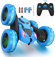 Hamdol Remote Control Car Double Sided 360°Rotating 4WD RC Cars with Headlights 2.4GHz Electric Race Stunt Toy