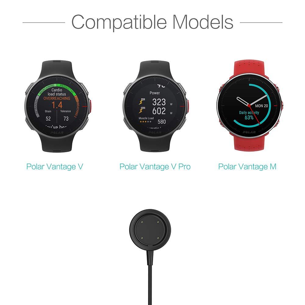 TUSITA Cargador para Polar Ignite,Vantage V,Vantage V Pro,Vantage M - Cable de Carga USB 100cm - Accesorios para Relojes Multideporte