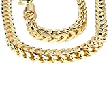 Dazzlingrock Collection 14K Yellow Gold Men's Franco Chain Necklace 4.5 mm (26 Inch)