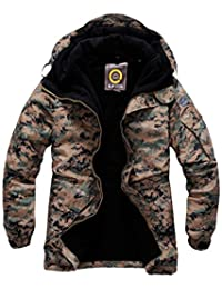 Mens US Marine Military Waterproof Ski Snowboard Boardwear Hood Jacket Jumper Parka