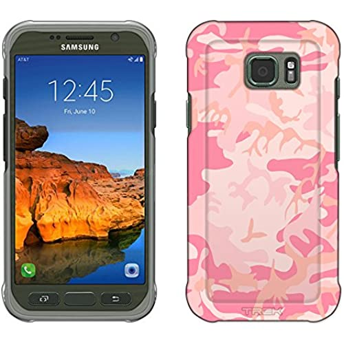 Samsung Galaxy S7 Active Case, Snap On Cover by Trek Camouflage Pink Slim Case Sales