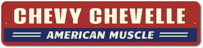 "Chevelle Gift Sign, Chevelle Sign, Chevy Chevelle Gift Sign, Chevelle Decor, American Muscle Car Sign, Chevy Aluminum Sign - 6"" x 24"""