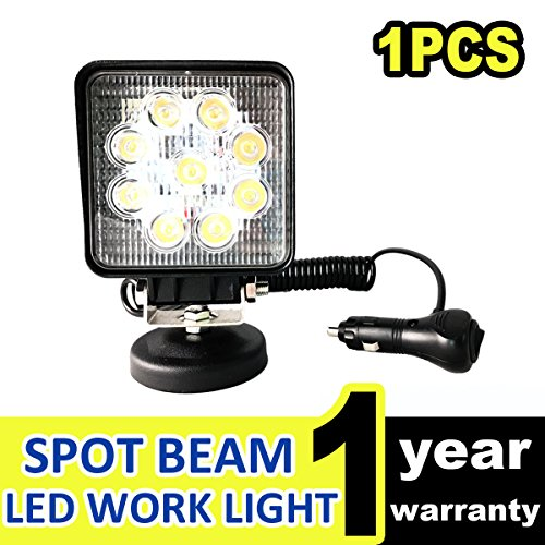 - LED Work Light Led Lights Waterproof Offroad Flood Beam Lamp Square Floodlight Truck Boat Bar 27W 12V - DEREKRIC