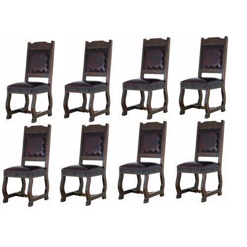R&R Ocho sillas de Comedor rústicas de Gran Hacienda de Piel ...