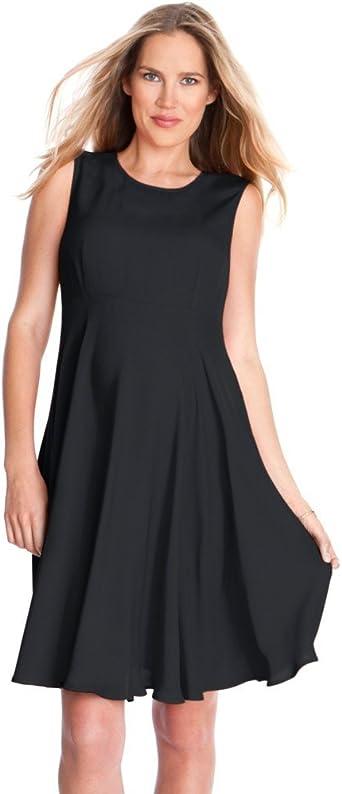 Seraphine Maternity Dress Evie Sleeveless Woven A Line Maternity Dress Black 12 At Amazon Women S Clothing Store
