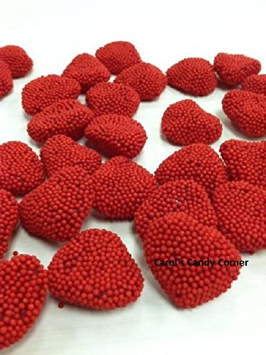 Jelly Belly Valentines Day Red Raspberry Hearts Candy (1 Lb - Approx 112 Pcs)
