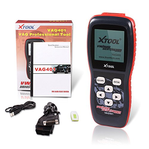 XTOOL VAG401 Live Data OBD2 Auto Scanner for VW, Audi, Seat and Skoda with Oil Reset, Airbag Reset and Actuation Test Function by XTOOL (Image #3)