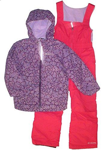 Columbia Girl's Snowpack Slope Set Snowsuit Ski Pants Winter Jacket Hooded Waterproof (XS 6/7)