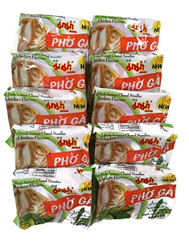 Instant Pho Ga Chand Noodle Soup, 1.93 Oz. Packets (Set of 10) (Chicken (Pho - Ga Bowl