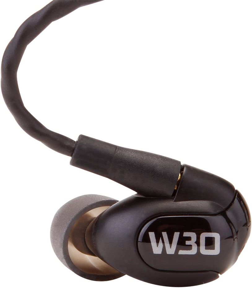 Westone W30 Triple-Driver True-Fit Earphones with MMCX Audio Cable and 3 Button MFi Cable with Microphone