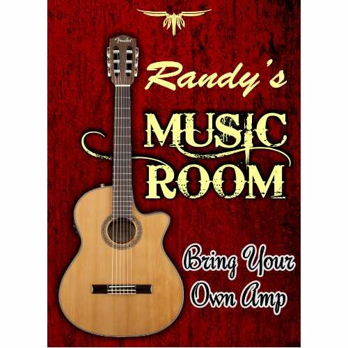 - Anchor Graphix Guitar Room Sign Custom/Personalized Guitar Sign (10x14)