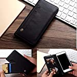 Perkie Luxury Flipper Faux Leather Wallet Flip Case Kick Stand Magnetic Closure Flip Cover for Realme 8 (Black)