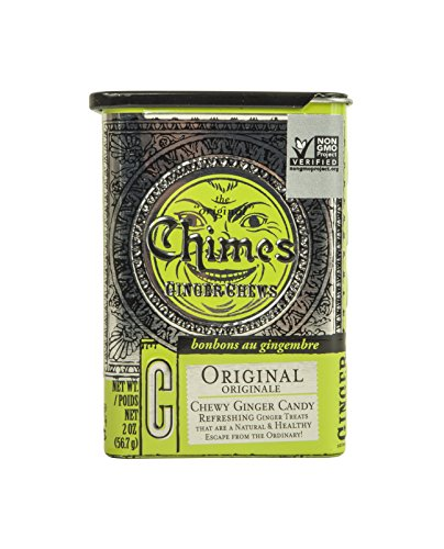 Chimes Original Ginger Chews 2 Ounce Tin