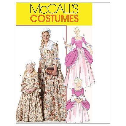 Amazon McCall's Patterns M40 Misses'Children'sGirls Custom Colonial Dress Patterns
