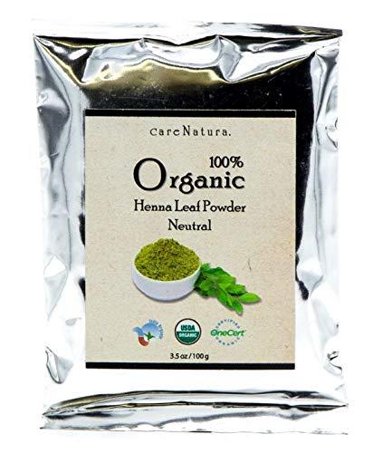 100% Organic Henna Leaf Powder (Neutral) 3.5oz (100g) Kuria Mal & Sons