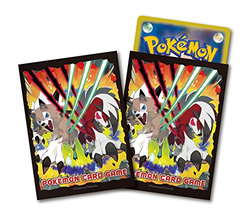 - Anime Pokemon Lycanroc Sun and Moon Character Card Deck Game Sleeves 64pc