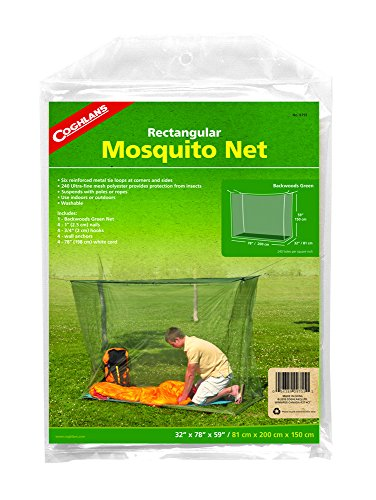 Coghlan's Single Wide Rectangular Mosquito Net, Green (Tie Single Coghlans)