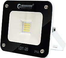 GOODGOODS LED 投光器 20W 200W相当 昼光色 極薄型 作業灯 2600LM 広角 室内 屋外照明 防水仕様 IP66【一年保証】 LDT-20