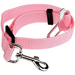 FranterdVehicle Pet Cat Dog Safety Seat Belt (Pink)