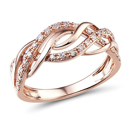 Diamond Braided Ring - 8