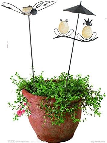 ecostake jardín Artificial rana y Mariposa par estacas/enrejado de ...