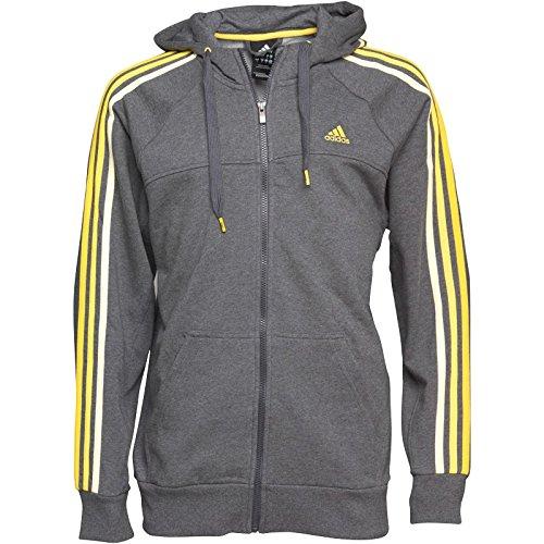 Chaqueta Capucha Oscuro 3 Gris Con Hombre Adidas Essentials Rayas xwOIZpOq 3159d66a4a653