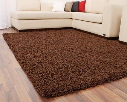 Diva shaggy marrone pelo alto pelo lungo tappeto tinta unita brown