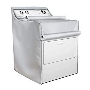 Washer/Dryer Cover,Fit for outdoor top-load and front load machine,Waterproof Dustproof Moderately Suncreen Silver Coated(W29D28H40in,Thin)