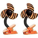 DreamBaby Clip-on Stroller Fan 2 Pack - Tiger