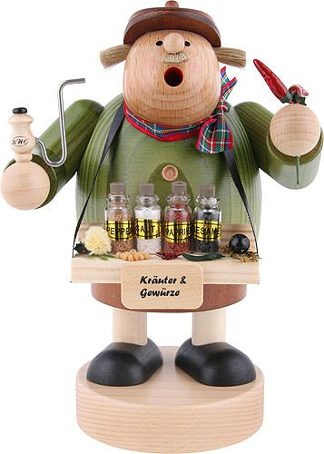 KWO Chubby Spice Trader Merchant German Wood Christmas Incense Smoker by Pinnacle Peak Trading Company