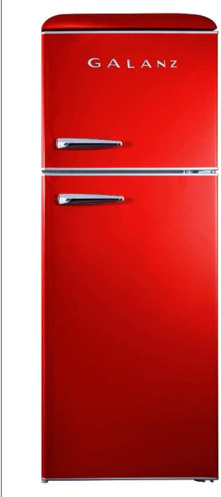 Galanz - Retro Look Refrigerator, 10.0 Cu Ft Refrigerator Top Mounted, Frost Free(RETRO), E-STAR Red