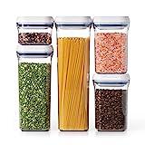 corner kitchen cabinet plans free OXO Good Grips 5-Piece Airtight Food Storage POP Container Value Set