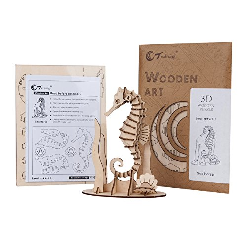 TORCH 3D Wood Puzzle Wooden DIY Children Gift Collection (Sea (Sea Torch)