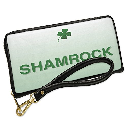 Wallet Clutch Shamrock St. Patrick's Day Clover Fade with Removable Wristlet Strap Neonblond by NEONBLOND