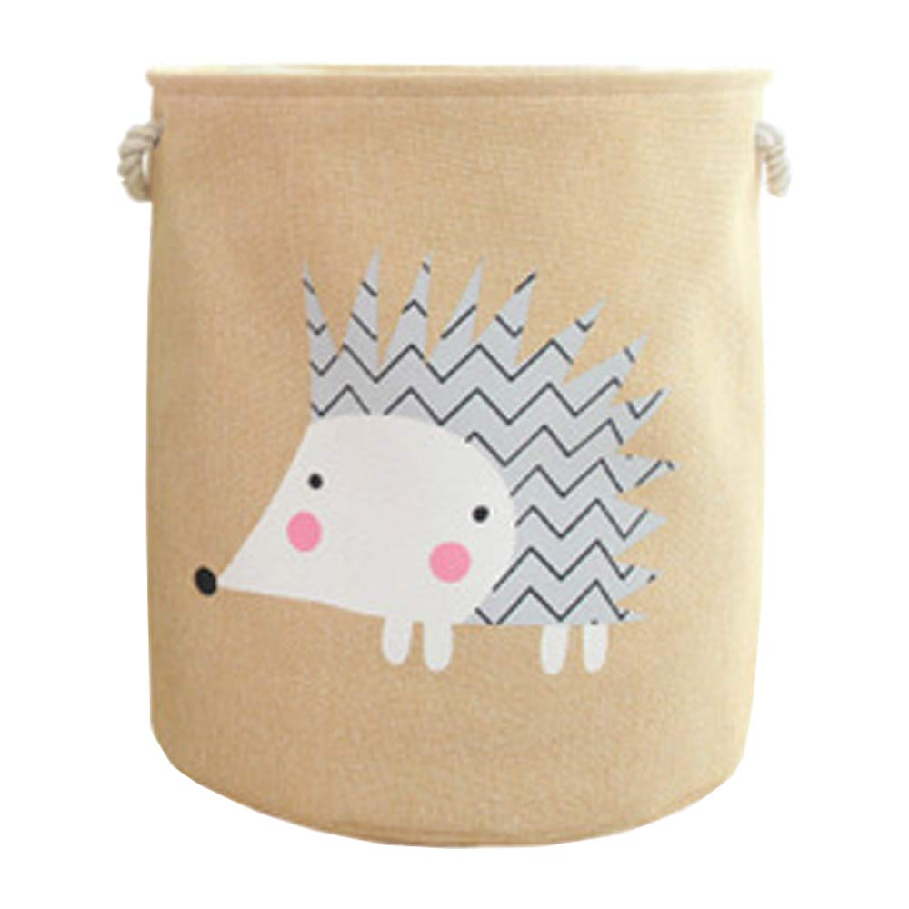 large cotton and linen storage basket VictoryMeet Large Storage Basket With Animal Pictures kids storage and as a laundry hamper round storage basket ideal for toy storage Cat