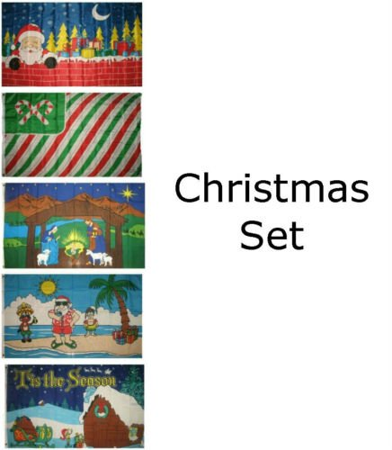Decorations Wholesale Christmas (Moon Knives 3x5 Merry Christmas Happy Holidays #13 5 Flag Wholesale Set House Banner - Party Decorations Supplies For Parades - Prime Outside, Garden, Men Cave Decor Flag)