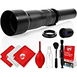 Opteka 650-2600mm High Definition Super Telephoto Zoom Lens for Canon EF mount Digital SLR Photo Cameras (Black) + Premium 8-Piece Cleaning Kit